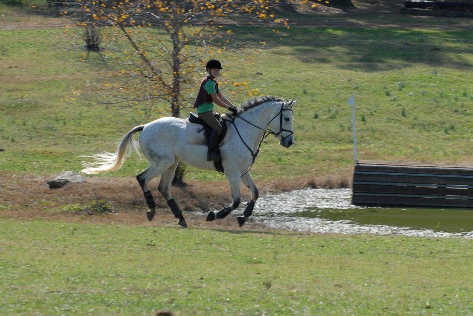 canter by pond