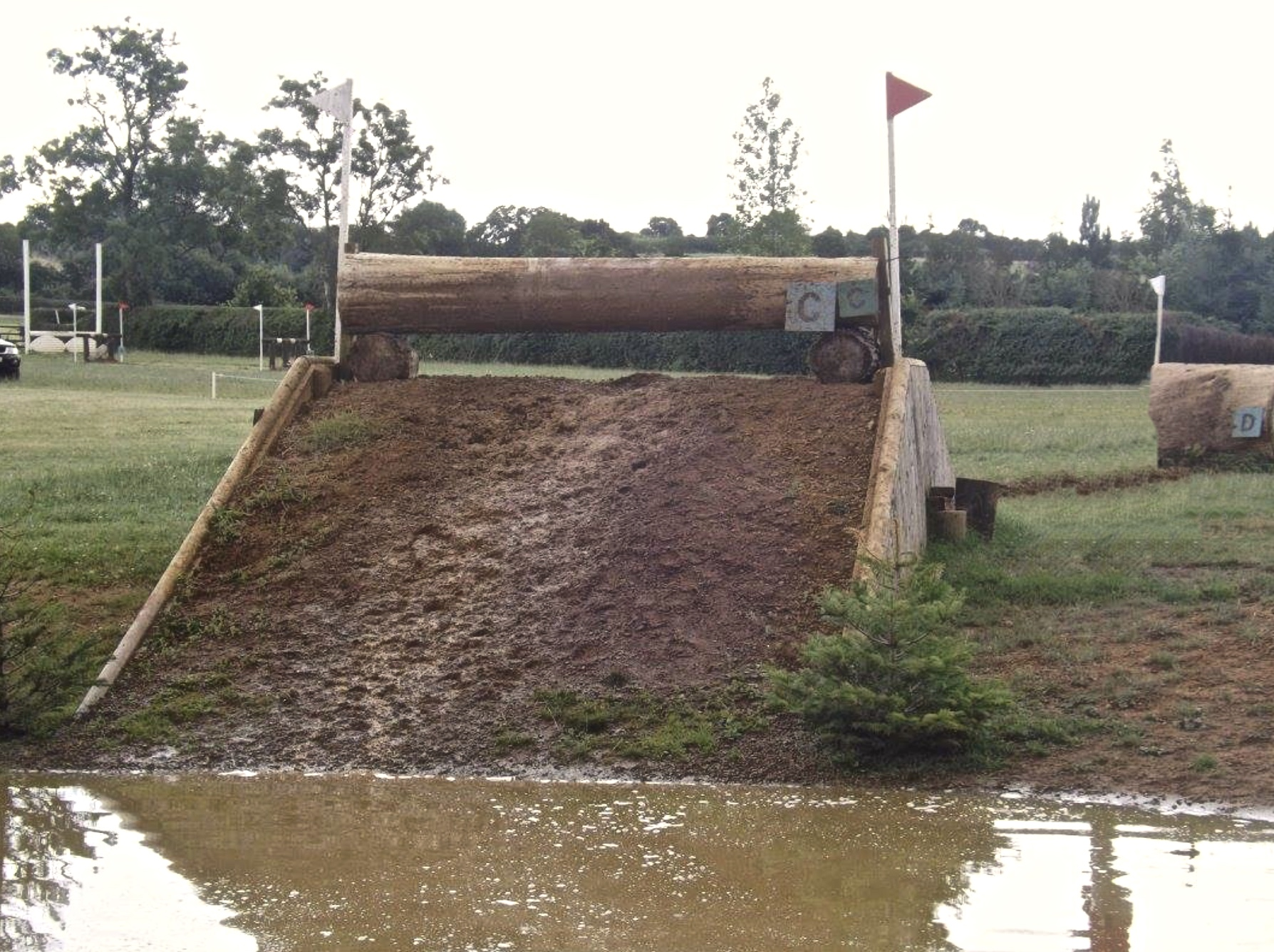 log on ramp out of water